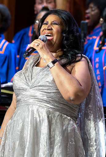 Aretha Franklin performs during