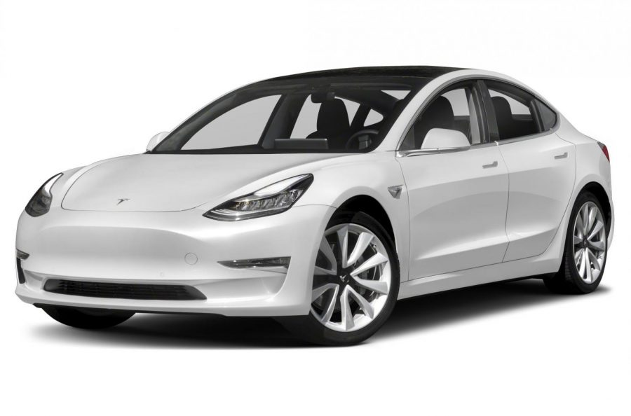 Tesla+Model+3+features+the+latest+in+high+tech+with+quick+acceleration+and+263+miles+of+driving+range.